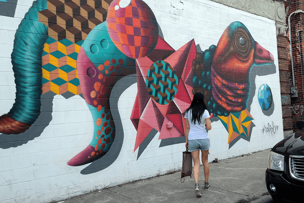 Gift yourself a different ending for Enjoy detroit mural